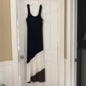 New Directions dress:black, ivory, brown